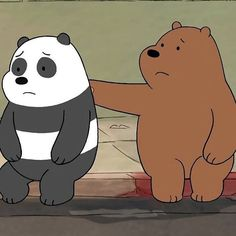 Cute Friend Pictures, Sad Pictures, Bear Cartoon, Cartoon Icons, Bear Meme, Spongebob Drawings, Panda Painting, Cartoon Network, We Bare Bears Wallpapers