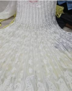 Gorgeous big ghera Anarkali with all Chikan work Lucknowi Kurta, Kurti, Plazzo Suits, Salwar Suits, Anarkali, Saree, Deepika Padukone Style, Boho Fashion Over 40, Ethenic Wear