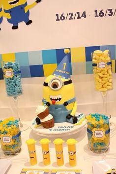 's Birthday / Minions - Despicable Me - Photo Gallery at Catch My Party Minions Birthday Theme, Minion Party Theme, Despicable Me Party, Happy Birthday Leo, 10th Birthday Parties, 4th Birthday, Birthday Ideas, Bolo Minion, Diy