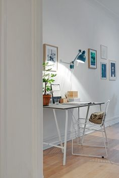 Home office with a Hee chair from Hay