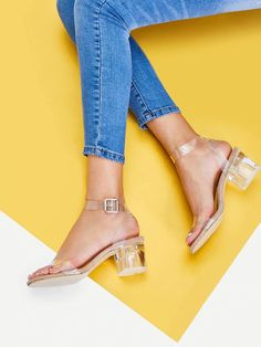 To find out about the Clear Strap Block Heeled Sandals at SHEIN, part of our latest Pumps ready to shop online today! Ankle Strap Heels, Peep Toe Heels, High Heels, Stiletto Heels, Online Shopping Shoes, Shoes Online, Sandals Online, Women's Shoes, Heeled Mules