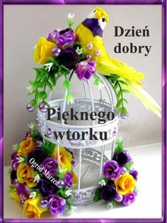 Fun Learning, Grapevine Wreath, Grape Vines, Good Morning, Merry, Tuesday, Pictures, Polish, Buen Dia