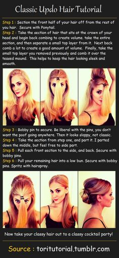 Classic Updo Hair Tutorial