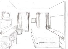 1 point of view room in drawing | ... drawings from floor plans to 1 and 2 point perspective drawings