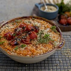 Vegan Baked Cherry Tomato Risotto