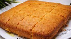 Semolina And Coconut Cake - Kitchen Cookbook Semolina Cake, Bulgarian Recipes, Yogurt Cake, Round Cakes, Kefir, Baking Pans, No Bake Cake, Cornbread, Crockpot Recipes