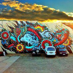 - Meggs and Steen Jones (Melbourne, Aus) Wierd Pictures, Classical Realism, Ice Art, Art Addiction, Amazing Street Art, Park Art, Outdoor Art, Community Art, Love Photography