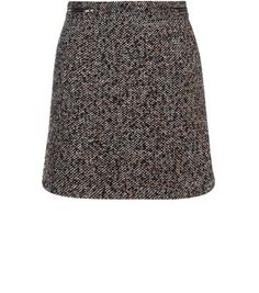 """Bring this textured mini skirt into a work-wear wardrobe when paired with a burgundy high neck top and block heel ankle boots.- Textured finish- Zip front detail- Zip back fastening- Casual fit- Mini length- Model is 5'8""""/176cm and wears UK 10/EU 38/US 6"""