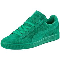 a57bbfb015717 Puma Suede Classic + Colored Women s Sneakers ( 70) ❤ liked on Polyvore  featuring shoes, sneakers, suede shoes, lace up shoes, sports shoes, laced  shoes ...