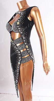 LATIN RHYTHM SALSA BALLROOM COMPETITION DANCE DRESS - SIZE S, M, L (HS1143)