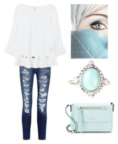 """""""date night in white"""" by im-karla-with-a-k ❤ liked on Polyvore featuring Current/Elliott, Velvet and Kate Spade"""