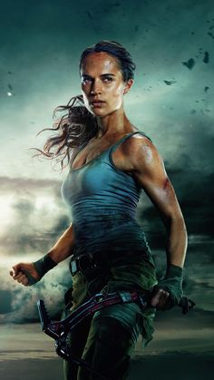 Formerly played by Angelina Jolie, Alicia Vikander has some pretty big shoes to fill as she embodies Lara Croft in Warner Brother's new film Tomb Raider Tomb Raider Alicia Vikander, Alicia Vikander Lara Croft, Tomb Raider Novo, Tomb Raider 2018, New Tomb Raider, Lara Croft Costume, Laura Croft, Tomb Raider Lara Croft, Nathan Drake