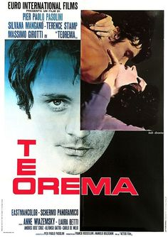 Pasolini, teorema, movie poster