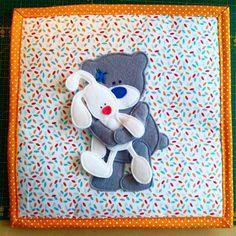 #quietbookpage #quietbook #bear #rabbit