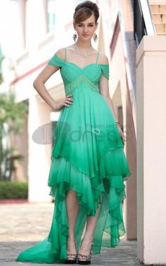Hot Sale Modern Green Party Dresses For Women