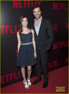 Soni Nicole Bringas and  Martina Stoessel at the Netflix Red Carpet Event