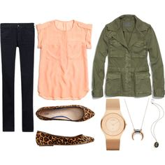 Military jacket & leopard-fall