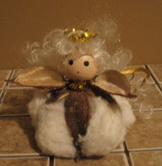 Cotton Ball angel #ornament