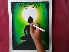 Easy Lord Buddha Drawing with pastels for beginners step by step//How to draw Buddha purnima drawing Oil Pastel Colours, Oil Pastel Art, Soft Pastels, Oil Pastel Drawings Easy, Colorful Drawings, Easy Drawings, Pencil Colour Painting, Pencil Art, Budha Painting