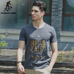 Good price Pioneer Camp bamboo cotton printed t-shirt mens anchor 100%cotton t shirt comfortable&breathable o-neck t shirts fit 677055 just only $10.11 with free shipping worldwide  #tshirtsformen Plese click on picture to see our special price for you