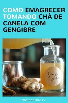 Chá de canela com gengibre (e mais) para emagrecer