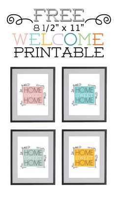 Home Sweet Home (free printable)