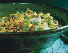 Tender lima beans and fresh corn kernels straight off the cob team up to create a beautiful—and delicious—side dish that's perfect with almost any meal.
