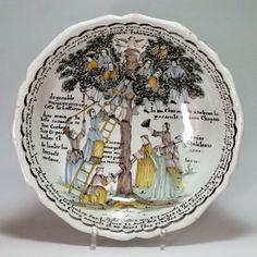 """Nevers - Grande Jatte à """"L'arbre d'Amour"""" datée 1801"""