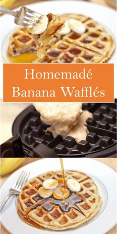 >> Homemadé Banana Wafflés << #yummy #food Breakfast Pastries, What's For Breakfast, Banana Waffles, Pancakes, Waffle Maker Recipes, Good Food, Yummy Food, Delicious Breakfast Recipes, My Best Recipe
