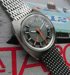 Vintage Omega Seamaster Memomatic Alarm Watch On Mesh Bracelet - omegaforums.net