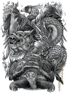 Chinese Auspicious Creatures by AmBr0.deviantart.com on @DeviantArt