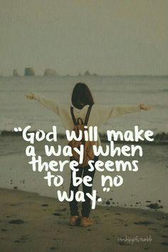 Just have faith.