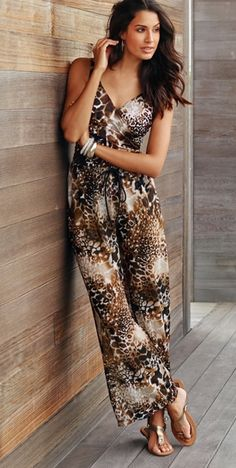 Cover up with these exotic animal print pants.