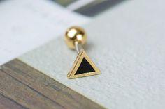 Petit Triangle Helix boucle doreille triple par ShopOrigamiJewels
