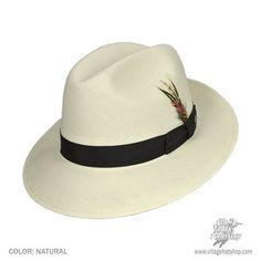 49fe0cce441d6 Bailey Hanson Fedora Hat (Natural) Popular Hats