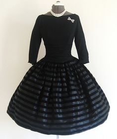 This is my Dream Dress to wear to work! I am convinced to change my whole wardrobe to 1950-60's -Ashley Stafford (1950's Flocked Cocktail Party) dress