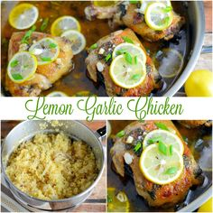Lemon Garlic Chicken Recipe- the best lemon chicken recipe out there. Garlic and honey make this sauce bright and tasty! Serve lemon chicken over pasta, rice or toasted couscous. www.savoryexperiments.com