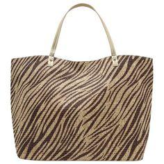 M&Co Animal Print Beach Bag ($28) ❤ liked on Polyvore featuring bags, handbags, brown, brown evening bag, animal print purses, evening handbags, animal print handbags и evening bags