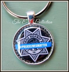 CHP California Highway Patrol keyring I love by TheEandGCollection