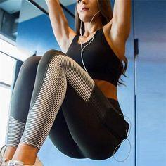 SALSPOR Women's Digital Printing Skinny Leggings High Waist Stitching Work Out fitness Leggins Female Mesh Pocket Slim Legging Mode Des Leggings, Sports Leggings, Leggings Fashion, Printed Leggings, Workout Leggings, Women's Leggings, Cheap Leggings, Striped Leggings, Workout Pants