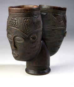 Africa   Cup from the Kuba people of DR Congo   Wood   ca. 1875 - 1925.