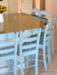 Image result for painted press back chairs