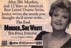 Ad for the last episode of Murder, She Wrote