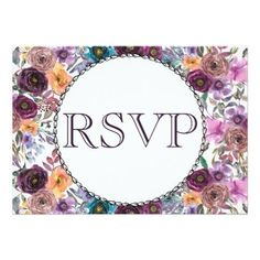 #Purple Tan Lavender Flower Wedding RSVP Card - #weddinginvitations #wedding #invitations #party #card #cards #invitation #country