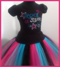 Rock Star Tutu set for the Stars by PaisleyDreamer on Etsy Music Theme Birthday, Rock Star Party, Spa Day, Tutu, Paisley, Stars, Formal Dresses, Trending Outfits, Diva