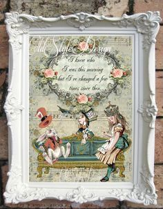 alice in wonderland wall - Google Search