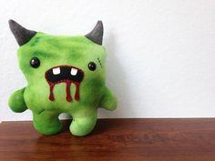 Green Zombie Momo Plush by ShopGhoulieGirls on Etsy, $20.00