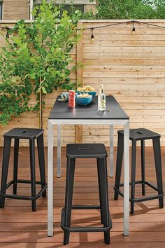 Modern outdoor counter table Outdoor Console Table, Outdoor Bar Table, Outdoor Stools, Modern Dinnerware, Industrial Stool, Ottoman In Living Room, Counter Bar Stools, Modern Outdoor Furniture, Nesting Bowls