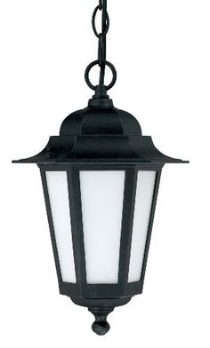 Nuvo Lighting 60/2209 Cornerstone Outdoor Hanging Lantern with Photocell, Frosted Glass, Textured Black by Nuvo. $53.90. From the Manufacturer                Founded in 1966, Satco is well known as a premier supplier of a variety of lighting products.  The SATCO brand includes light bulbs, electrical accessories, lighting hardware and glassware.  Nuvo Lighting was launched by Satco in 2005.  From the beginning, energy efficiency was the cornerstone of Nuvo Lighting's produc...
