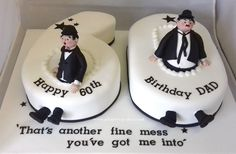 Laurel and Hardy Birthday cake !